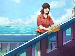《轮船上》