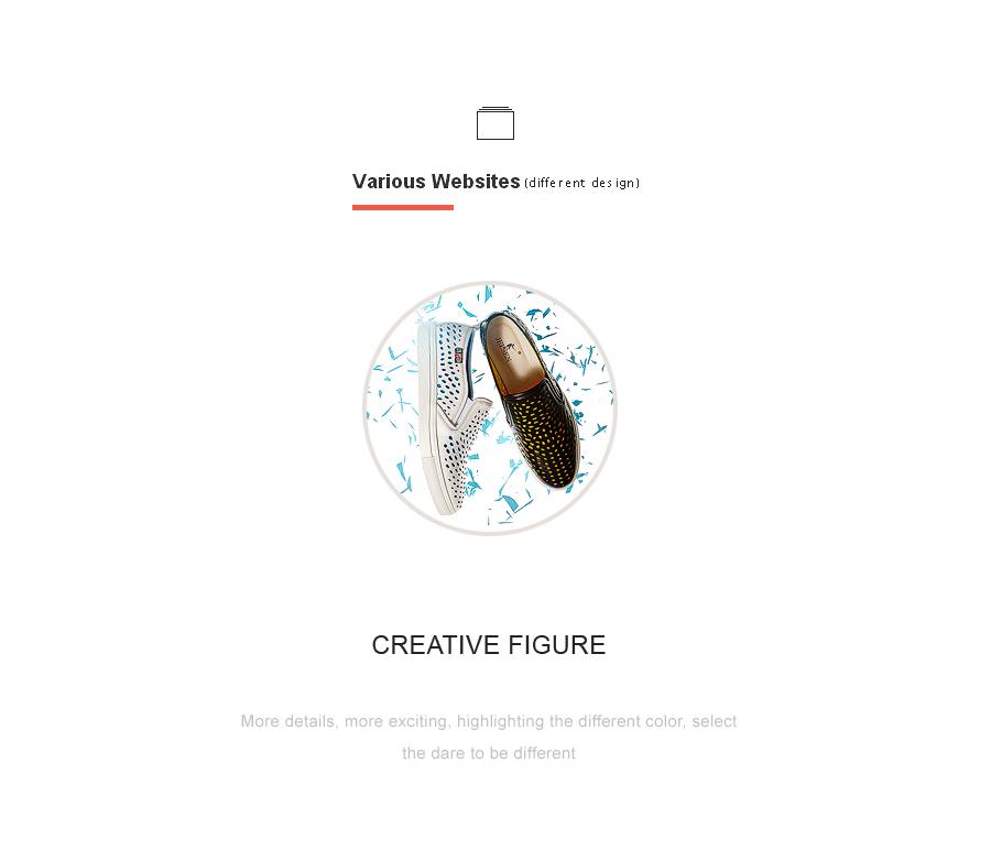鞋子创意图 字体排版|电子商务/商城|网页图片
