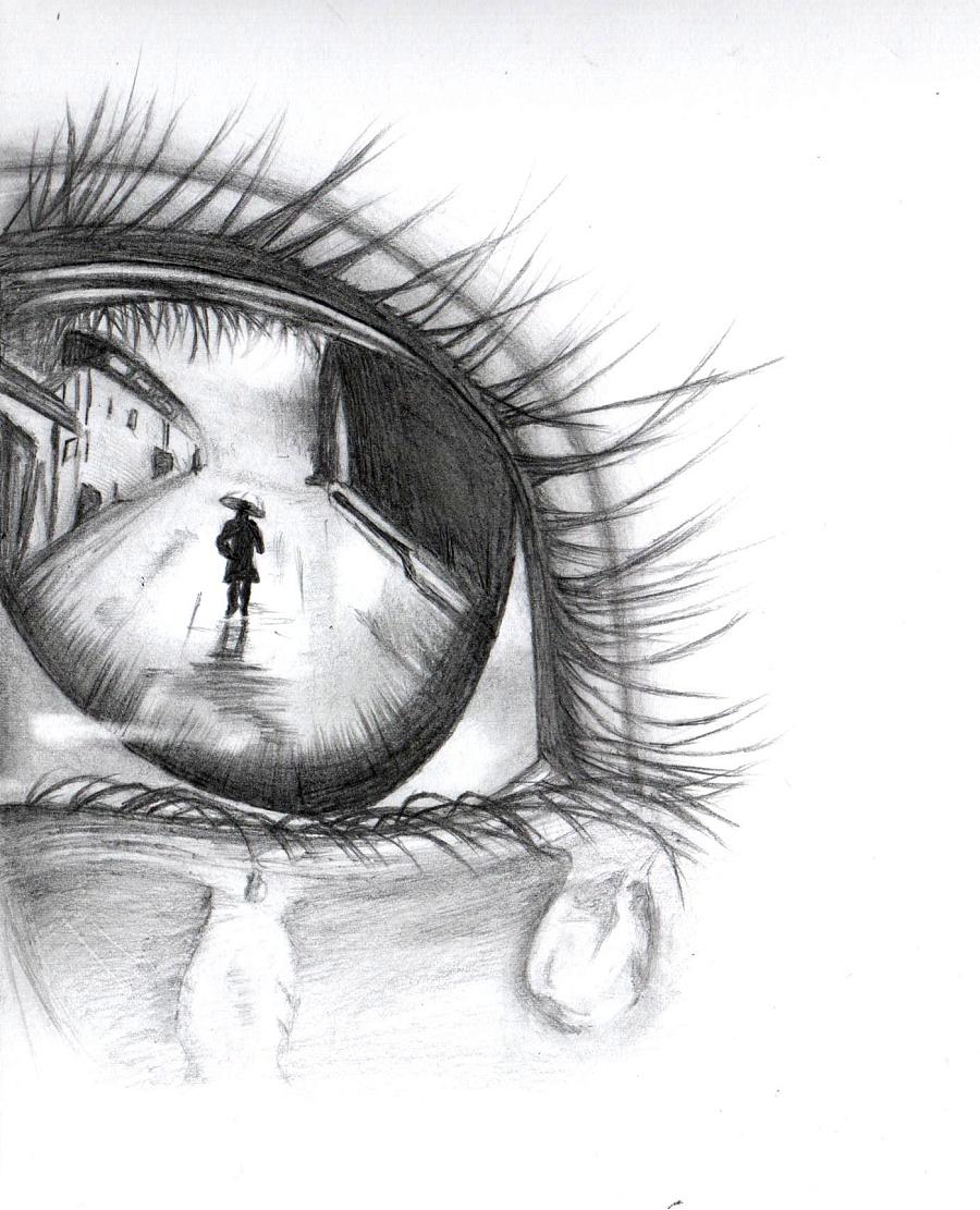 离人的眼泪(手绘)