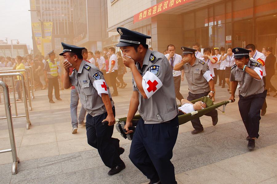 消防演习照片记实|纪实/新闻|摄影|低头背单词
