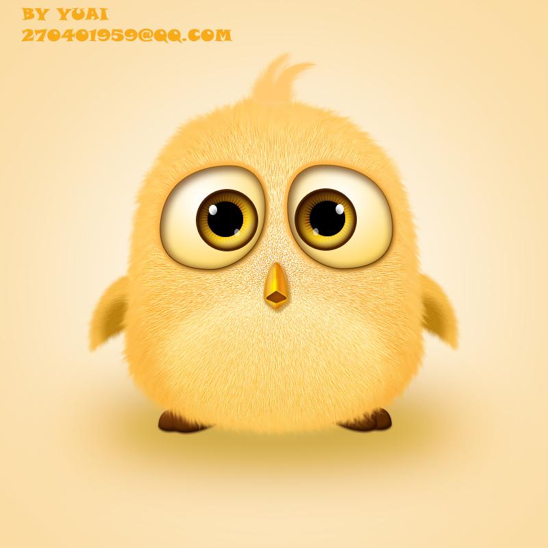 手绘愤怒的小鸟