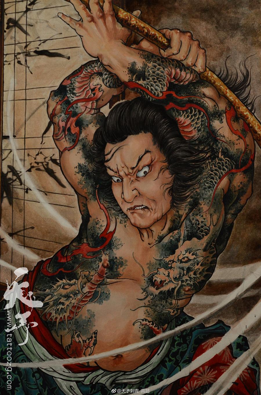 史进纹身_世界上最邪的十大纹身图片