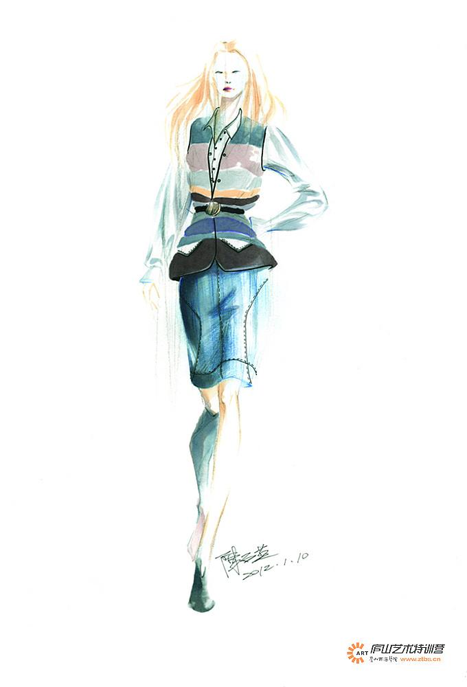 服装马克笔手绘系列——陈石英老师|服装|休闲/流行