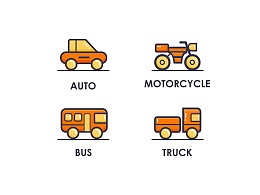 MBE风格交通工具图标
