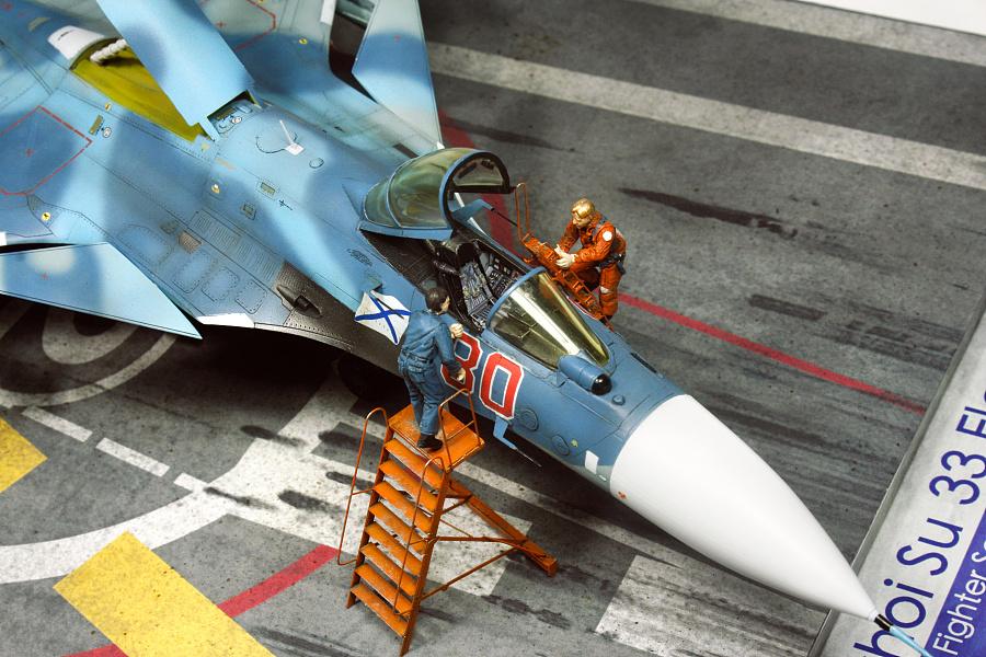"""查看《1/72 俄羅斯海軍 蘇-33 海側衛 """"紅色80"""" 「場景篇」》原图,原图尺寸:3888x2592"""