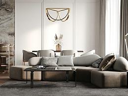 现代轻奢的质感美,极具特色化的居所!