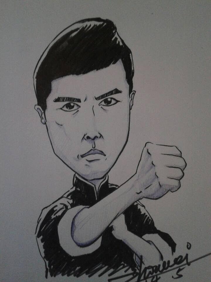 手绘肖像漫画