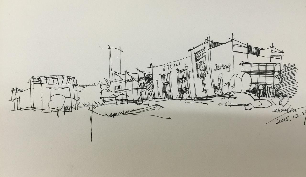 钢笔画临摹01