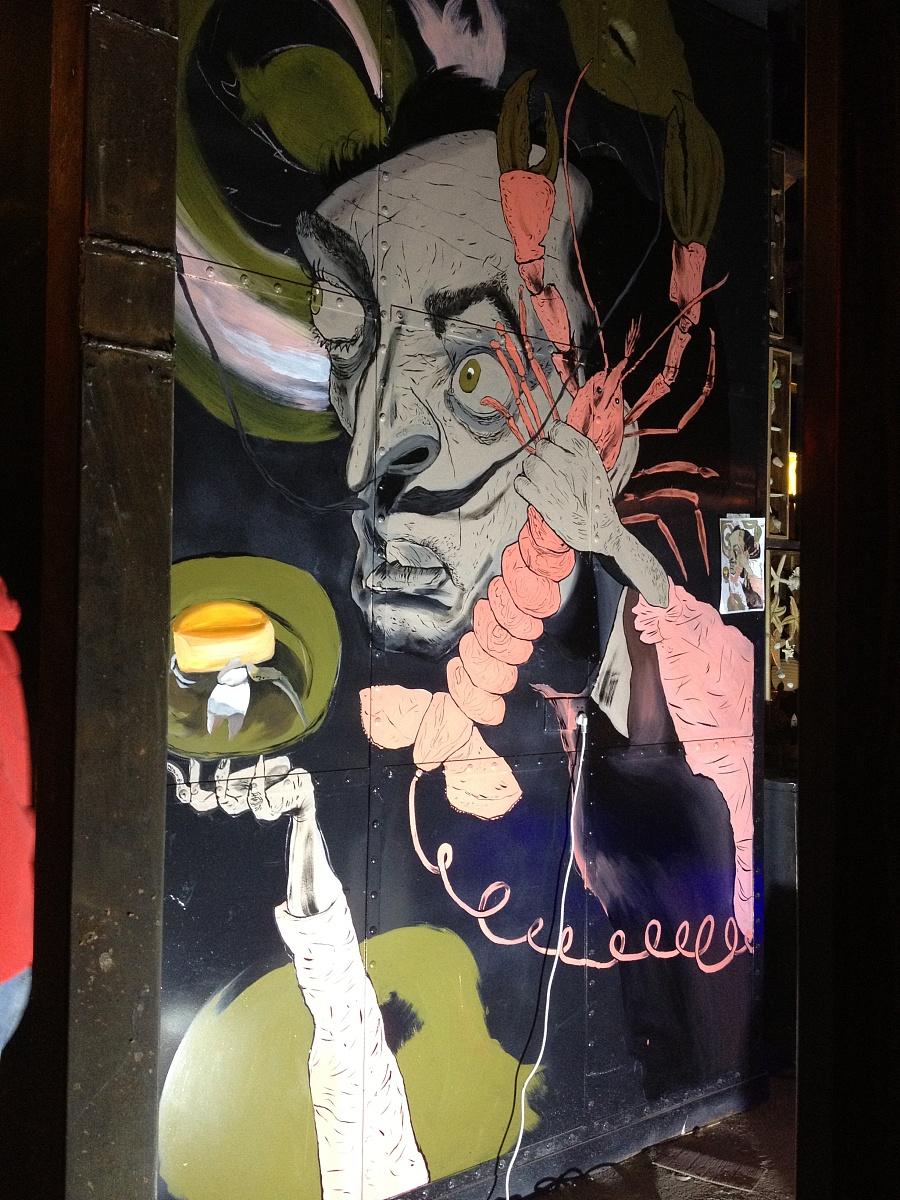 水货餐厅手绘墙案例|墙绘/画