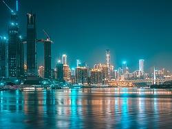 重庆夜景:网红夜景色调下的洪崖洞
