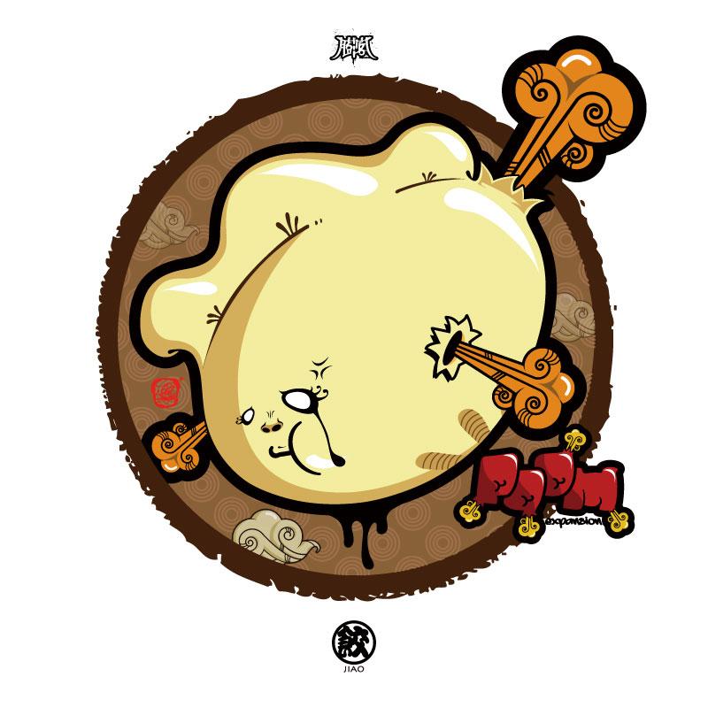 饺子手绘设计素材