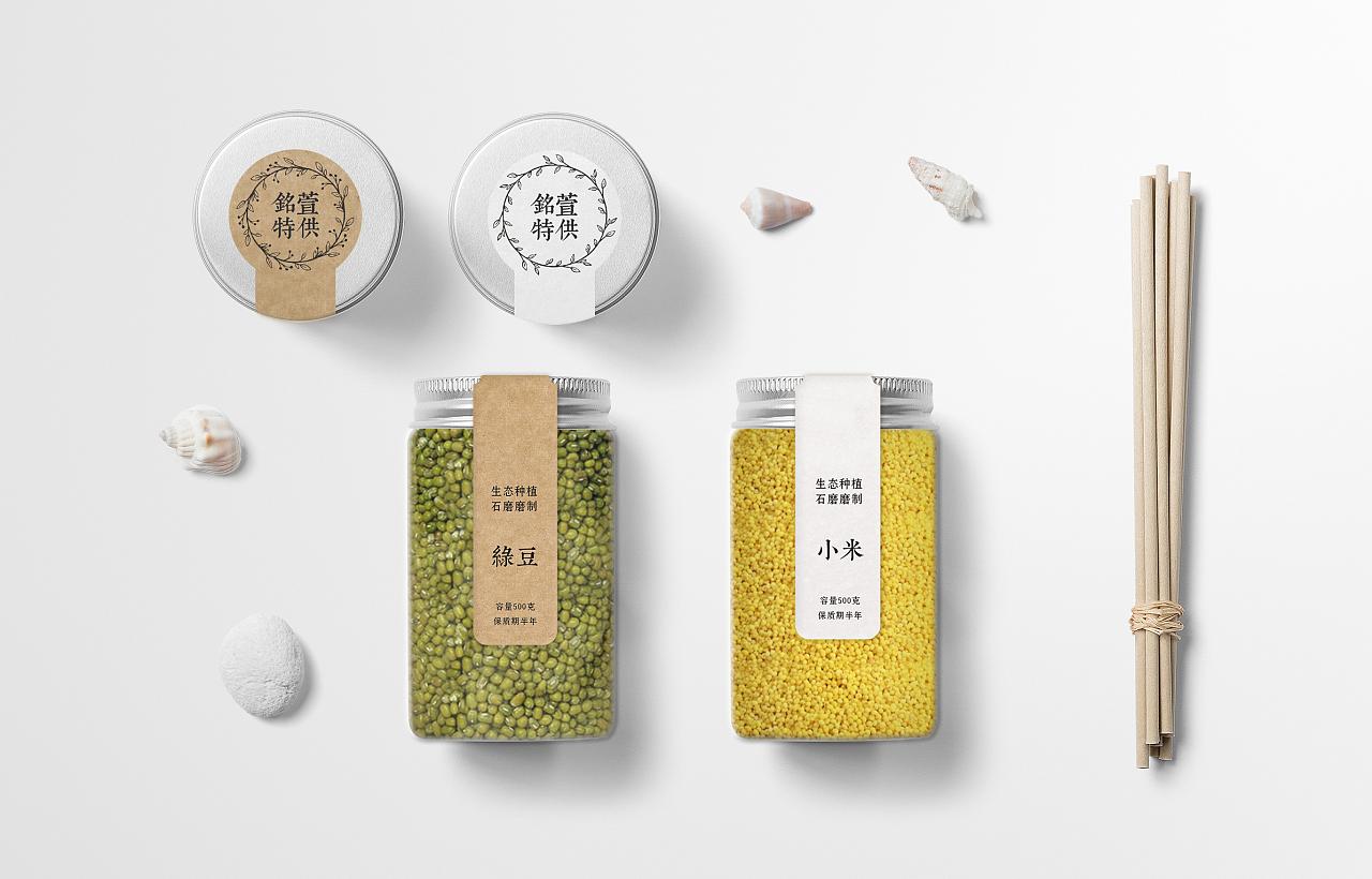 五谷杂粮及红酒包装设计图片