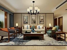 泰安华新山水居138m新中式风格装修-设计师陈笑图片