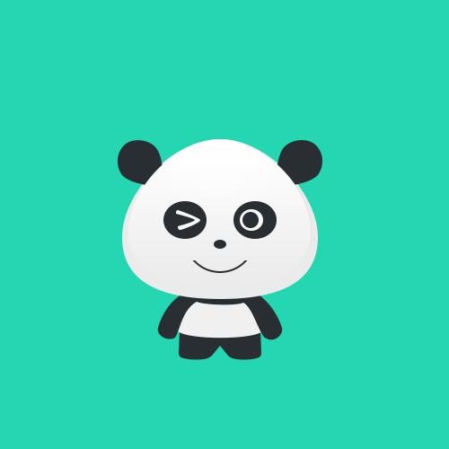 卡通可爱熊猫