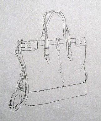 包包效果图手绘图片