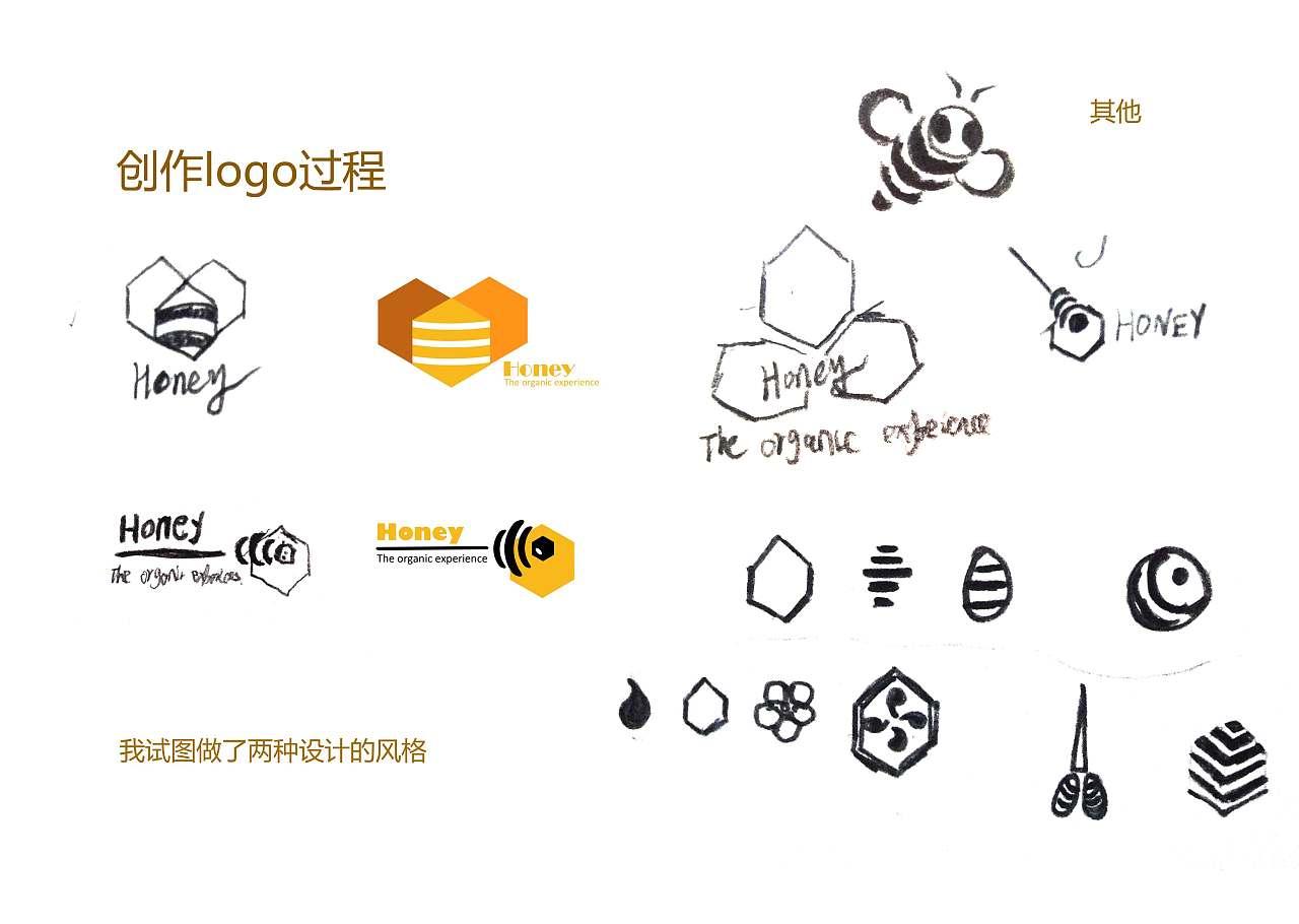 蜂蜜logo设计图片
