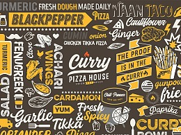 Curry Pizza House Indian Restaurant Branding
