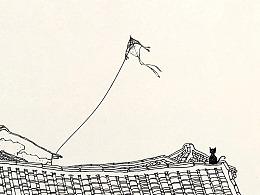 苏武钢笔插画写生带创作的方法1