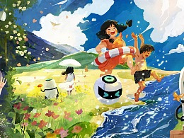 碧桂园夏季节气插画