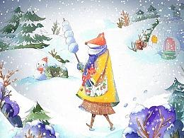 冬天的小狐狸