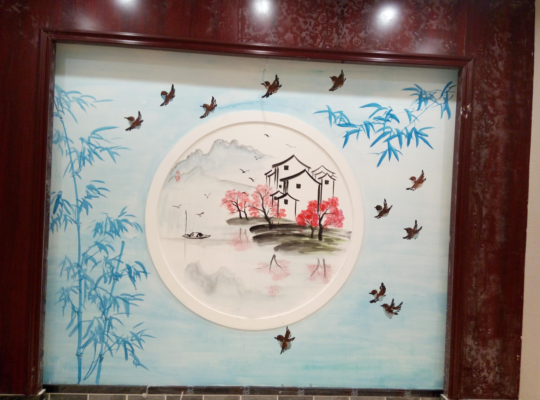 乡村食府手绘墙