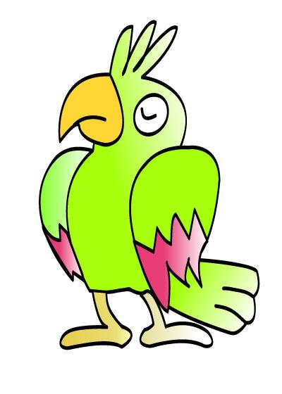 在ai软件上绘制的一个矢量图形,简单卡通动物