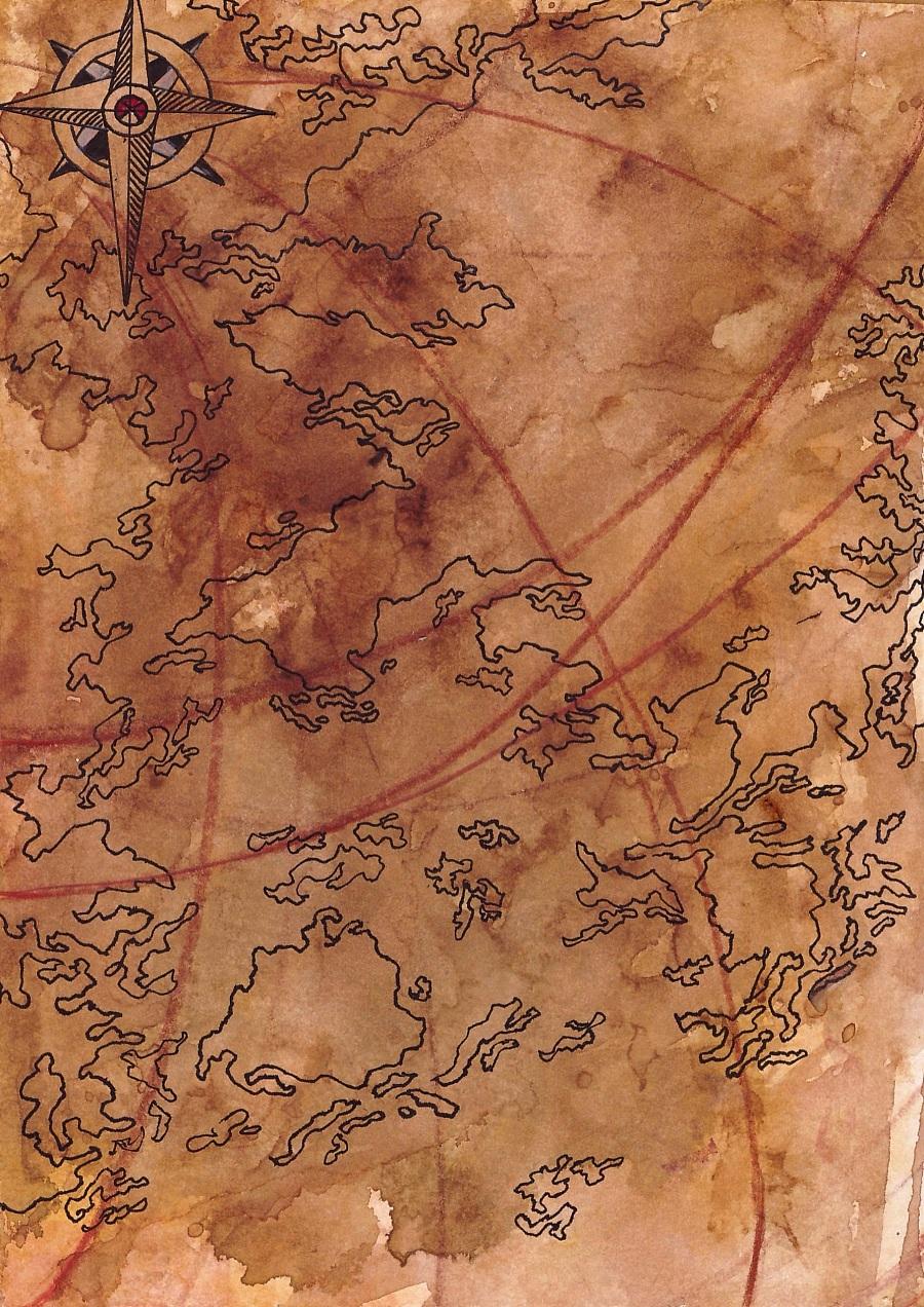 纯手绘地图装饰画|其他绘画|插画|西装女孩儿