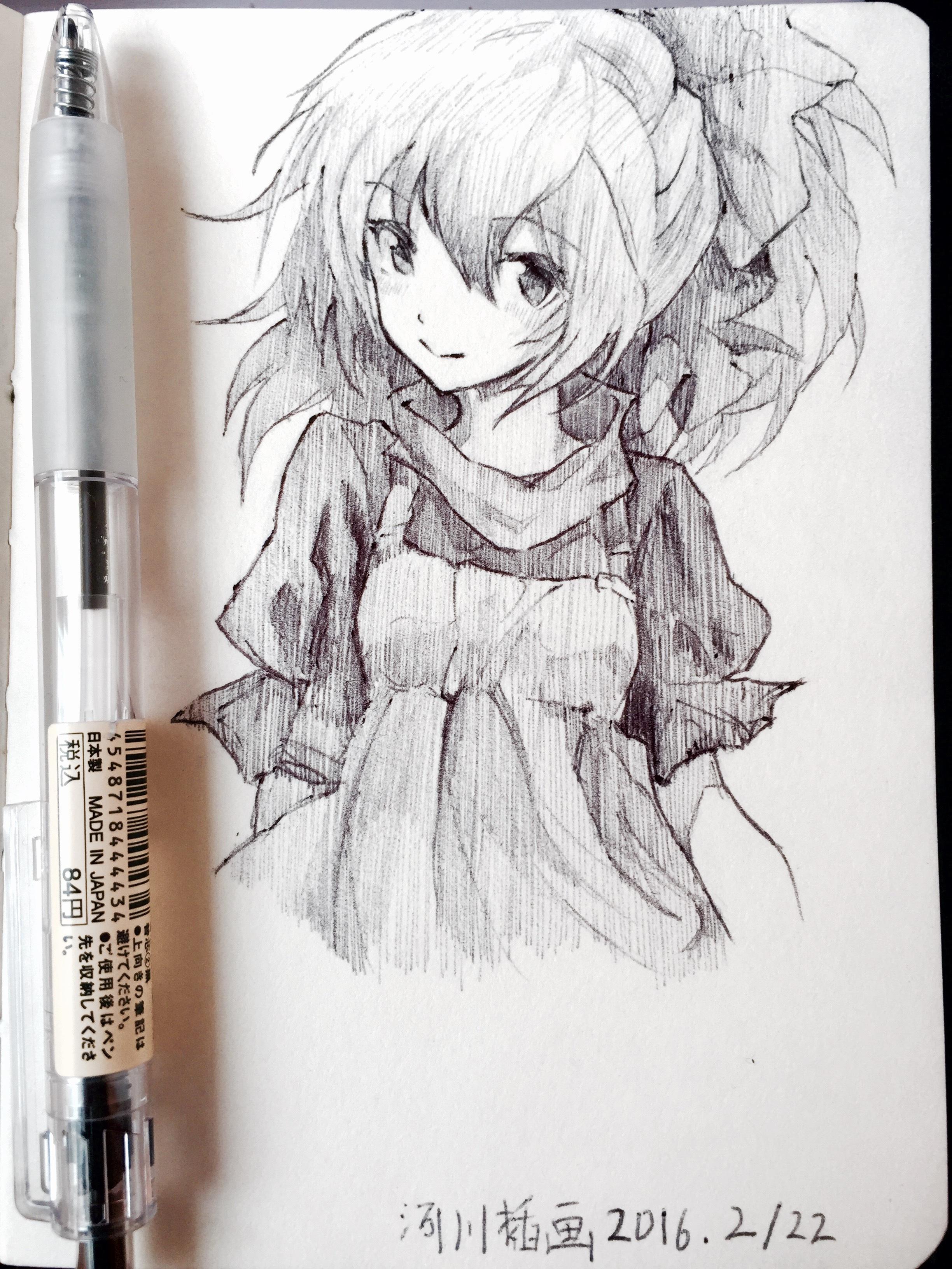圆珠笔插画手绘