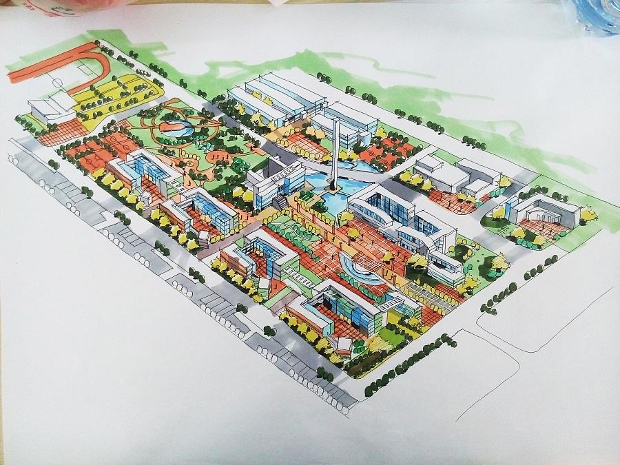规划类手绘图|建筑设计|空间|鹿小尤 - 原创设计作品