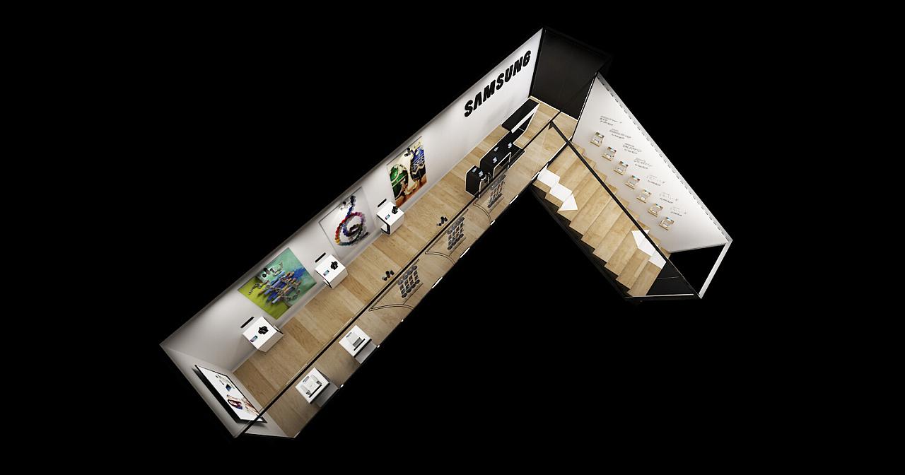 三星集装箱路演|空间|展示设计 |d丶s丶w - 原创作品图片
