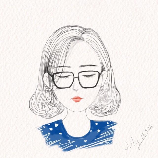 女生卡通手绘步骤