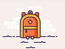 AI入门教程!5分钟画出一个小书包插画