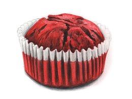 【驴大萌彩铅教程338】红丝绒纸杯蛋糕