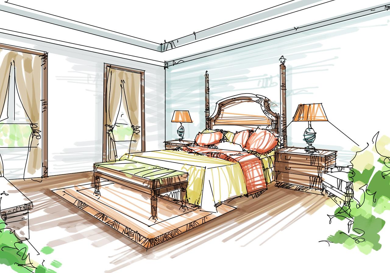 室内手绘效果图|插画|商业插画|园设计 - 原创作品
