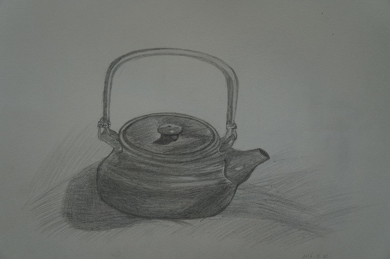 素描静物之器皿陶罐类-自学素描记录