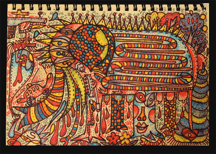 手绘笔记本封面 牛皮纸材质