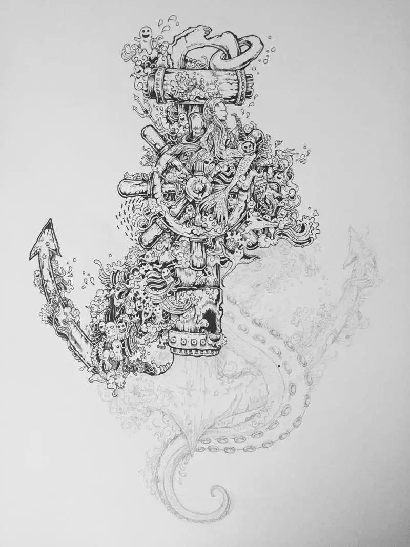 原创作品:针管笔 黑白手绘 第十弹