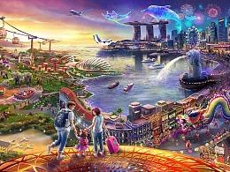 新加坡樟宜机场海报设计
