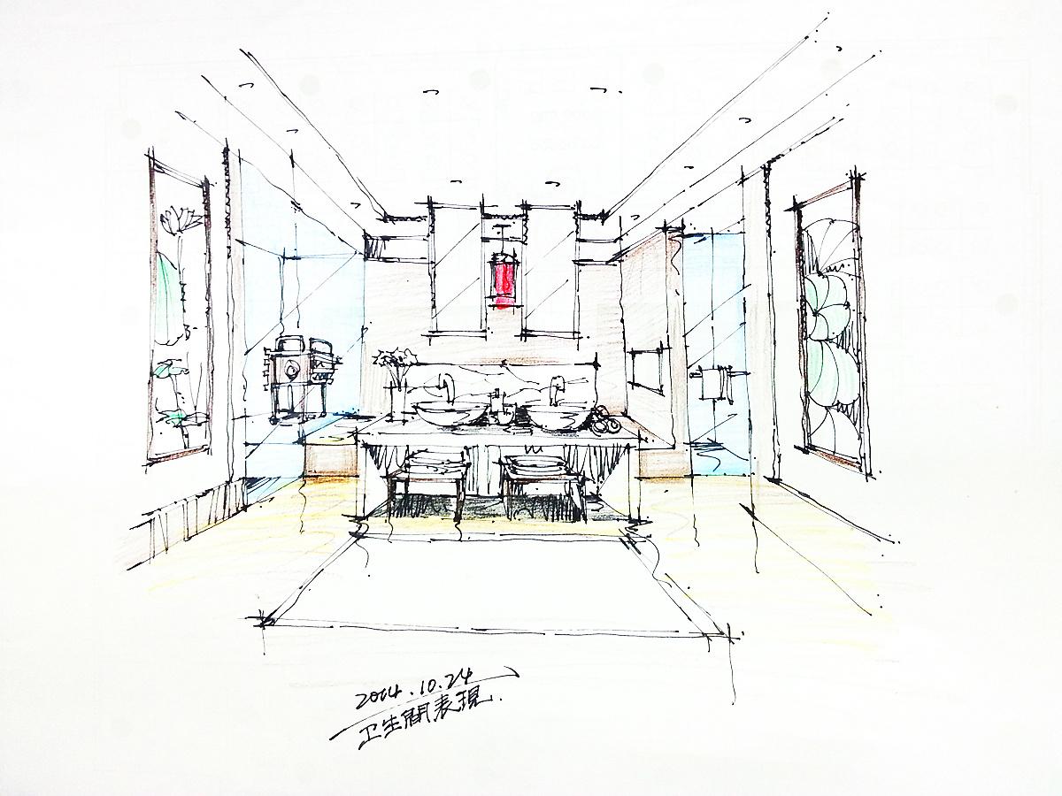 我的手绘 空间 室内设计 point000 - 原创作品 - 站酷