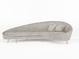 异形沙发建模