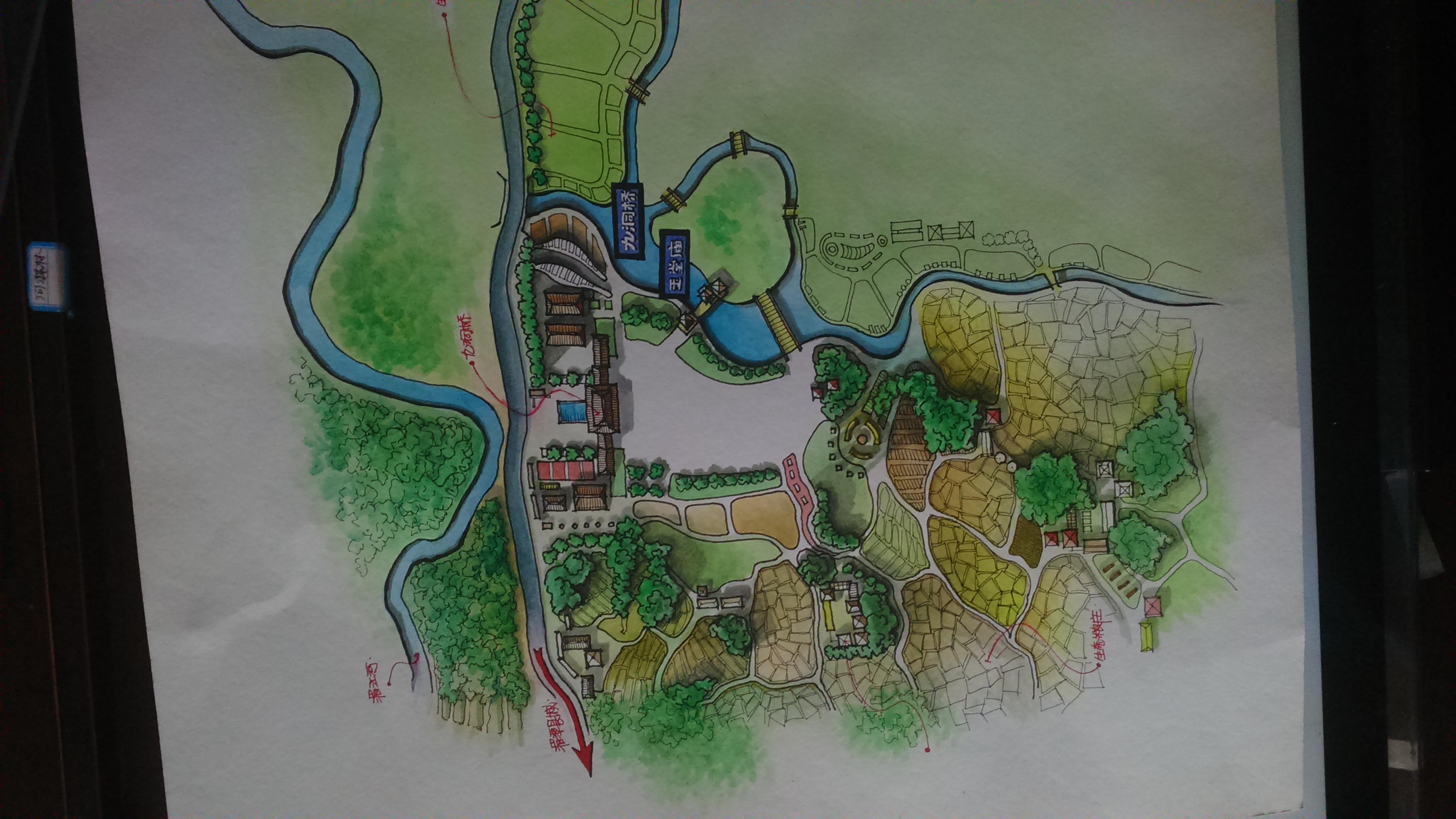 乡村旅游景点规划平面方案图片