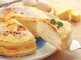 日式千层蛋糕|鸡蛋千层+抹茶千层