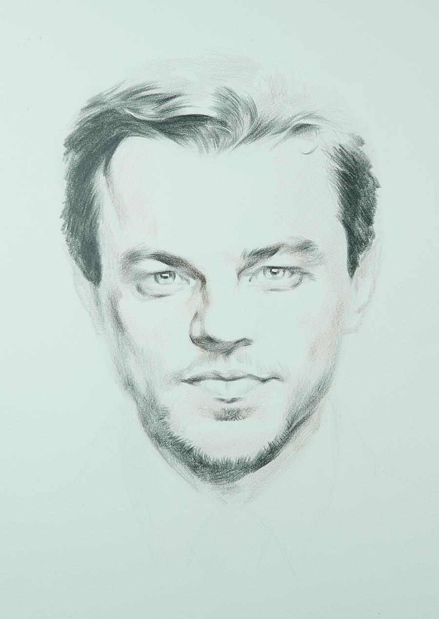 彩铅画人物:莱昂纳多