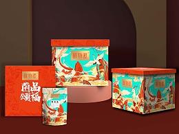 巨灵:鲜物道山珍礼盒设计