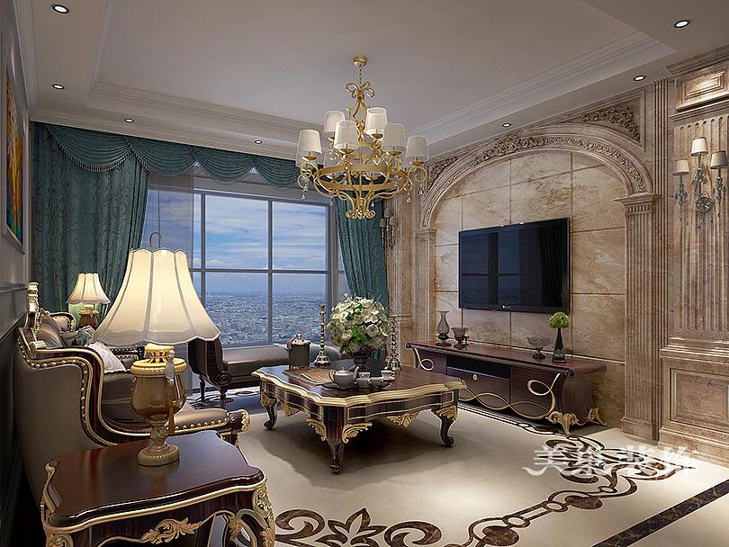 怡丰森林湖大平层170平欧式风格四室两厅装修案例欣赏