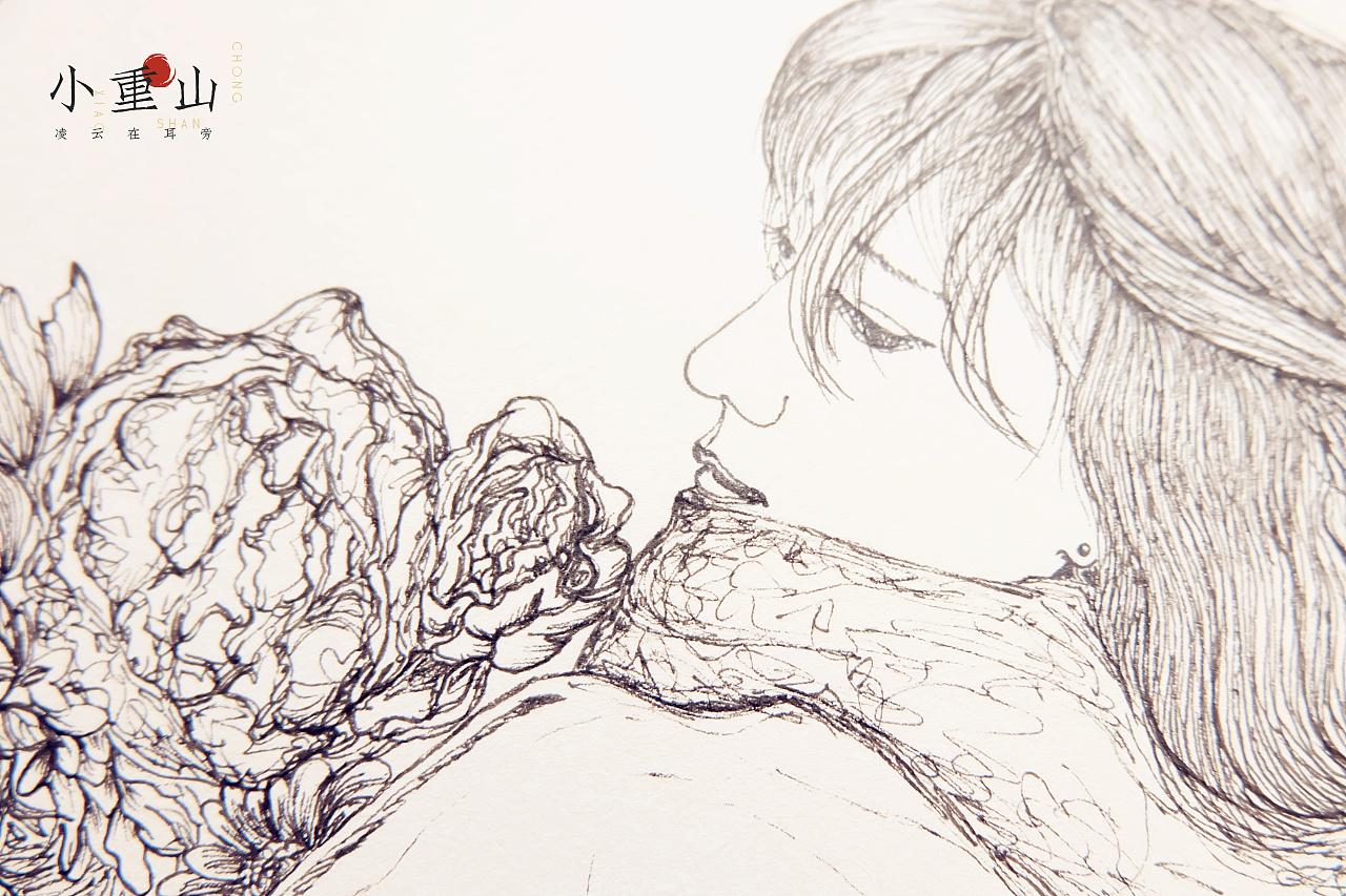 原创设计手绘装饰画第五期 纯艺术 钢笔画 jeroviya