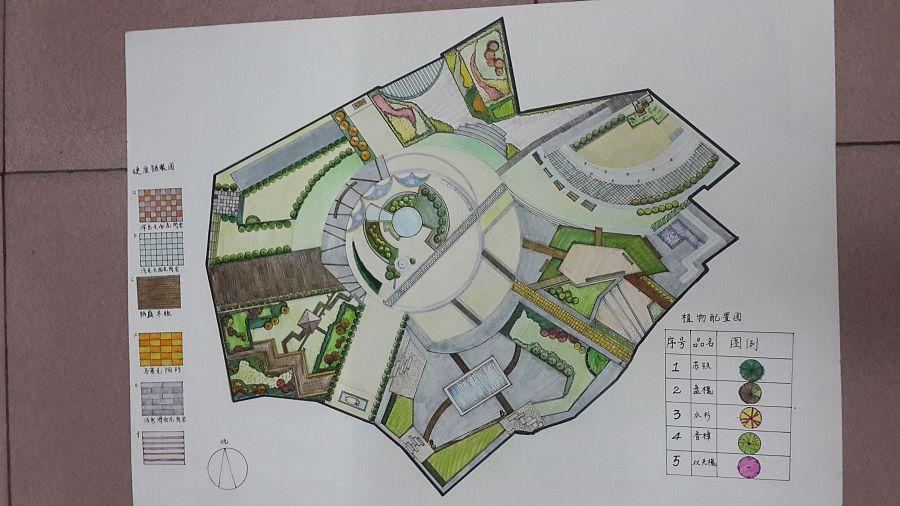 手绘景观设平面图|园林景观/规划|空间/建筑|gjdhc