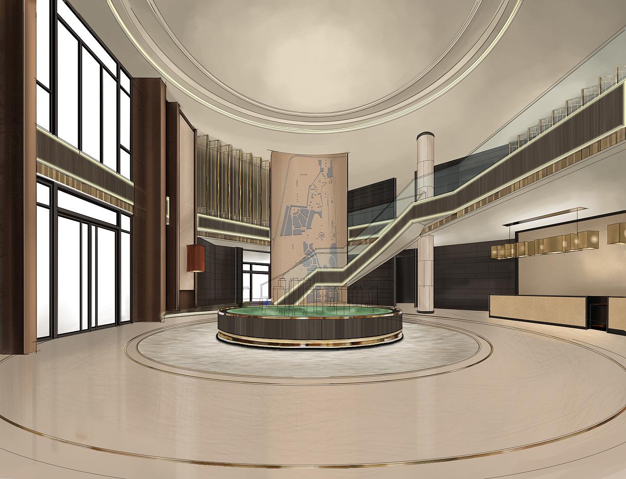 售楼部大堂(电脑手绘效果图)