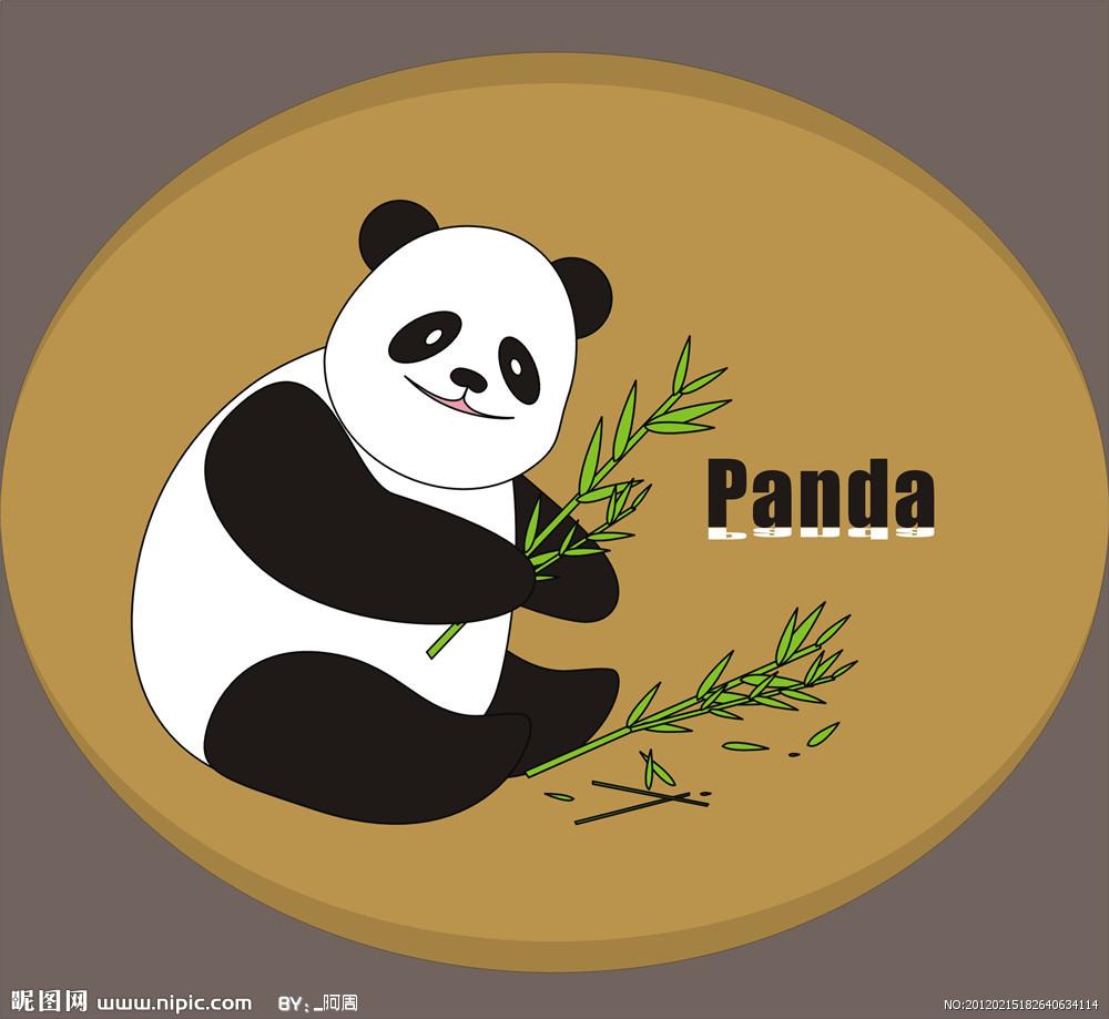 可爱大熊猫卡通图片