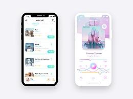 炫彩IPhoneX音乐APP概念设计
